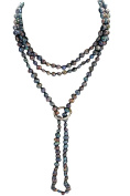 Pearls Paradise Women's Shanghai Baroque Cultured Pearl Necklace With A Sterling Silver Shortener