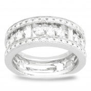 18K White Gold 1 1/4ct TDW Diamond Ladies Fashion Band