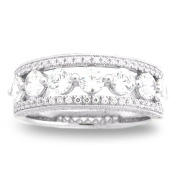 18K White Gold 1 3/5ct TDW Diamond Ladies Fashion Band