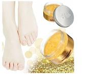 AFY 24K Essence Gold Ginger Exfoliate Foot Cream Feet Hard Dead Skin Remover Mask by GokuStore
