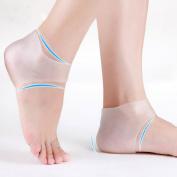 Plantar Fasciitis Heel Sleeve for Foot Pain Relief – Soft Gel Moisturising Sock for Dry Heels