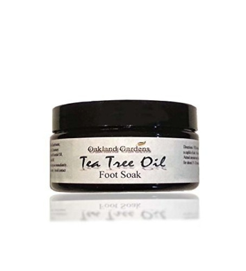 Tea Tree Oil Foot Soak With 100% Pure Dead Sea Salt, Tea Tree, Chamomile, Rosemary, Eucalyptus, Spearmint, Peppermint, & Lavender Essential Oils To Help Soak Away Athlete Foot, Nail Fungus & Related Foot Odour - 240ml By Oakland Gardens