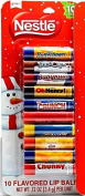 Nestles 10 Flavoured Lip Balms Christmas Packaging