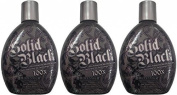 LOT of 3 Solid Black 100x Bronzer Dark Tanning Bed Lotion By Millennium Tans by Solid Black
