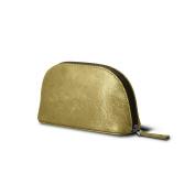 Lucrin - Makeup Bag (6.3 x 8.4cm x 5.3cm ) - Golden - Metallic Leather