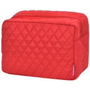 Solid Colour Print NGIL Quilted Large Cosmetic Travel Pouch