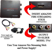 HDMI Converter for Amazon Fire Streaming Stick, Google Chromecast, Roku Streaming Sticks and other HDMI Sticks. Use Streaming Sticks with Older TVs that have Composite (red/white/yellow) Inputs.