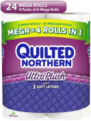 Quilted Northern Ultra Plush Toilet Paper Bath Tissue, 24 Count