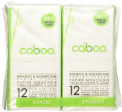 Bamboo Pocket Facial Tissue by Caboo | All Natural 2 Ply Tissues | Organic Bamboo and Sugarcane Pulp |