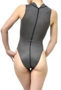 [N-030] water polo high neck swimwear normal back / grey / L size SSW [material]