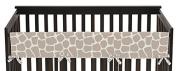 Sweet Jojo Designs Modern Giraffe Animal Print Long Front Rail Guard Baby Teething Cover Crib Protector Wrap