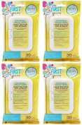 TFY Soothing Breast Wipes, 30 Count (4 x 30ct) 120 Total Wipes