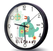Silent Wall Clocks for Kids Room – Stainless Steel Frame- Analogue Digital Battery Operated Children Clock- Best Bedroom Décor Ideas/ Baby Shower Gifts for Boys/ Girls/ Nursery - 25cm