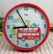 Children Wall Clocks for Kids Room - Silent - Decorative - Digital Battery Operated Children Clock- Best Bedroom Décor Ideas/ Baby Shower Gifts for Boys/ Girls/ Nursery - 30cm
