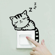 TOPUNDER Cat Wall Stickers Light Switch Decor Decals Art Mural Baby Nursery Room