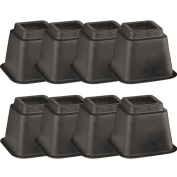 (Set/8) 15cm Tall Bed Or Chair Risers - Gives Additional Height To Furniture
