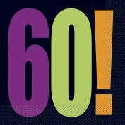 Birthday Cheer 60th Birthday Party Napkins, 16ct