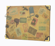 FaCraft Travel Scrapbook Album 27cm x 19cm Vintage DIY Vacation Photo Album