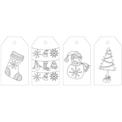 KaiserColour Colouring Tag Pack 24/Pkg-Holly Jolly