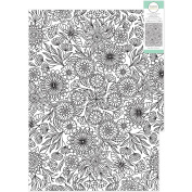 KaiserColour Colouring Poster In Tube 50cm x 70cm -Floral Pattern