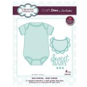 Craft Die CED10021 Sue Wilson New Arrival Collection - Baby Onesie