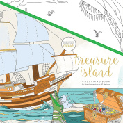 KaiserCraft Kaisercolour Perfect Bound Colouring Book 25cm x 25cm -Treasure Island