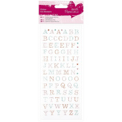 Papermania Glitter Dot Stickers-Uppercase Alphabet