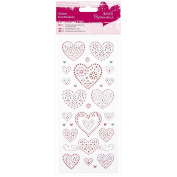 Papermania Glitter Dot Stickers-Love Hearts