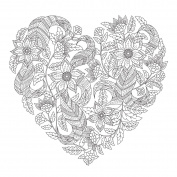 KaiserCraft Kaisercolour Gift Card W/envelope 15cm x 15cm -Floral Heart