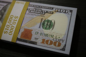 PROP MONEY 10 THOUSAND DOLLARS New Style Copy 100s DOUBLE SIDED Stack Good For Movie, Pranks, Music Videos, & Advertising