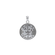 Jewellery Trends Sterling Silver Archangel Michael Sigil Pendant on Box Chain Necklace