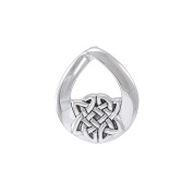 Jewellery Trends Sterling Silver Teardrop Celtic Knot Pendant on Box Chain Necklace