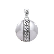 Jewellery Trends Sterling Silver Celtic Knot Medallion Pendant on Box Chain Necklace