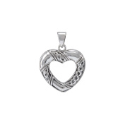 Jewellery Trends Sterling Silver Celtic Heart Shaped Pendant on Box Chain Necklace