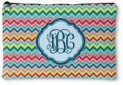 Retro Chevron Monogram Zipper Pouch