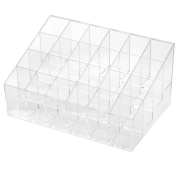 ieasysexy Cosmetics display shelf Acrylic Trapezoid 4 tier holds 24 lipsticks Lipstick frame Trapezoid Clear Lipstick Lotion Makeup Cosmetic Holder Storage Display Stand