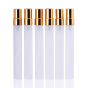 MUB 10ml Clear Travel Frosted Glass 10ml Small Empty Aromatic Fragrance Fine Mist Spray Perfume Bottles Atomizers