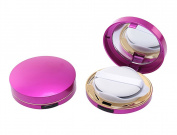 15ml 0.5oz Empty Luxurious Portable Make-up Powder Container Air Cushion Puff Case with Powder Puff and Mirror Circular Foundation BB Cream Box