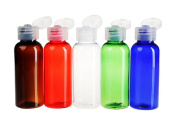 1oz (30ml) Empty Plastic Bottles with Flip Cap Travel Size Containers BPA Free