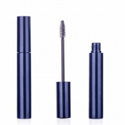 5Pcs 10ML 0.34oz Blue Reusable Empty Portable Eyelashes Tube Mascara Vials Eyelashes Wand Holder Container with Plug for Eyelash Growth Oil Mascara
