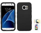 Galaxy S7 Case, Shock Absorbing Hybrid Rubber Plastic Impact Defender Hard Cover Case Momiji [Screen Guard] Cleaning Cloth For for Samsung Galaxy S7