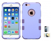 Iphone 6, 6s Case, Shock Absorbing Hybrid Rubber Plastic Impact Defender Hard Cover Shell Momiji Cleaning Cloth, [Screen Guard] For Iphone 6, 6s