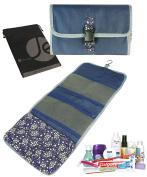 JAVOedge Floral Print Portable Hanging Travel Cosmetic Toiletry Foldup Organiser Bag for Women Makeup Storage