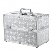 Anself Foldable Portable Makeup Case Lockable Cosmetic Organiser Storage Box