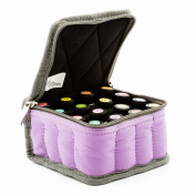 Essential Oil Carrying Case - Purple - Holds 16 Bottles 5-15ml - Sturdy & Compact Travel Bag Protects Young Living, doTERRA Oils and Most Major Brands by Aroma Outfitters