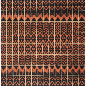 Safavieh Kenya Collection KNY609A Handmade Orange and Black Wool Square Area Rug, 0.7sqm