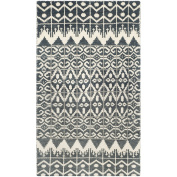 Safavieh Kenya Collection KNY606A Handmade Charcoal Wool Area Rug, 1.2m by 1.8m