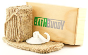 Exfoliating Body Scrubber Set For Men and Women A New Generation Of Loofah Back Scrubber - Made From Natural Hemp, Includes Comfortable Hand Mitt and Wall Hook Mount