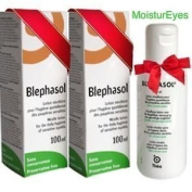 Thea 2 X Blephasol 100Ml Sensitive Eyelids Eye Lotion & Cotton Pads