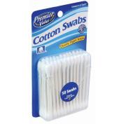 Premier Value Cotton Swabs Travel Size - 50ct